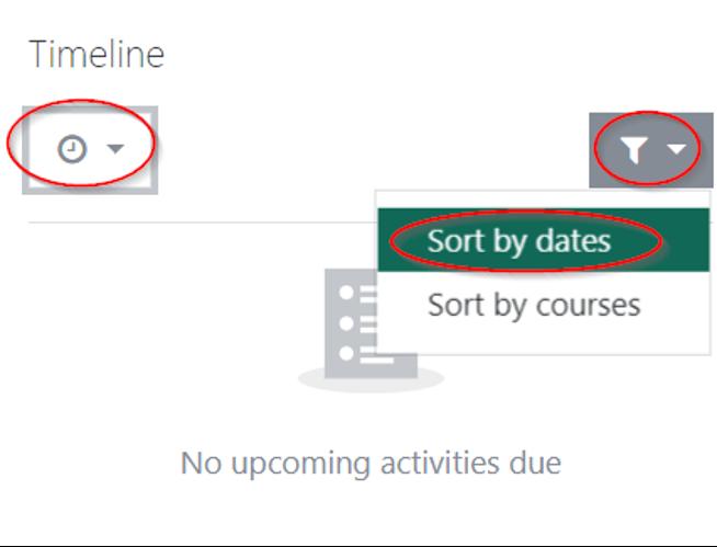 Moodle Timeline Screenshot