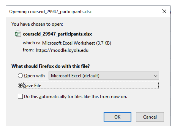 opening file in Moodle screenshot