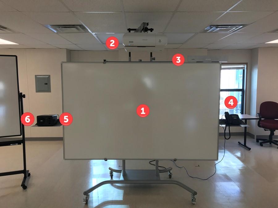 DGA Classroom Mobile Whiteboard Cart