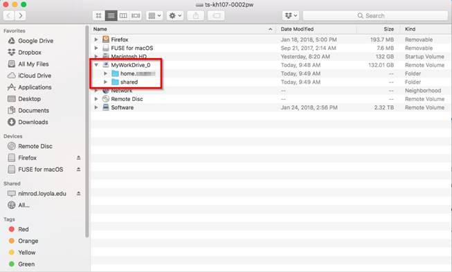 """alt=""""Screenshot of the folders in MyWorkDrive"""""""