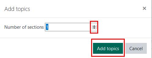 Add Topics button screenshot