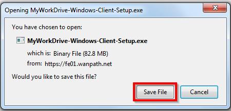 "Screenshot showing the ""Save File"" dialog box."