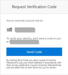 Request Verification Code